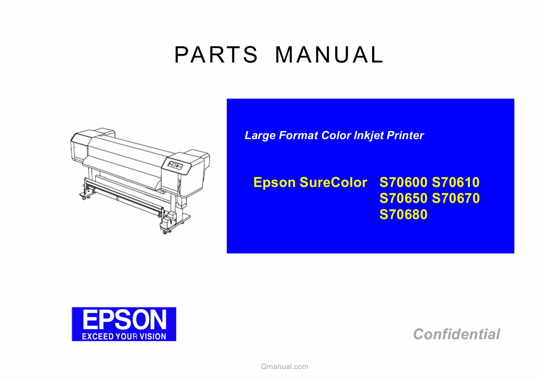 EPSON SureColor S70600 S70610 S70650 S70670 S70680 Parts Manual-1